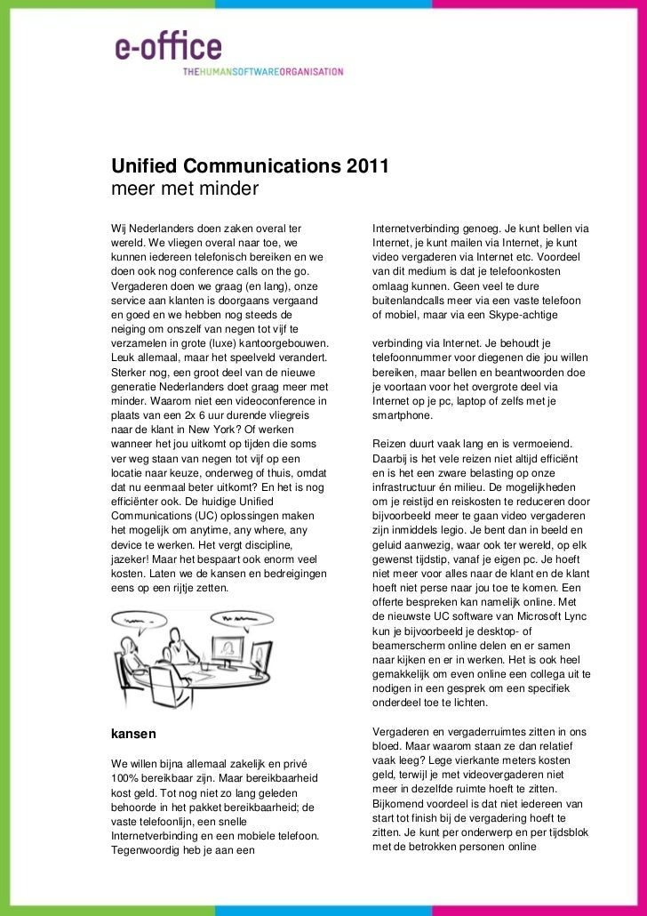Whitepaper unified communications 2011   meer met minder