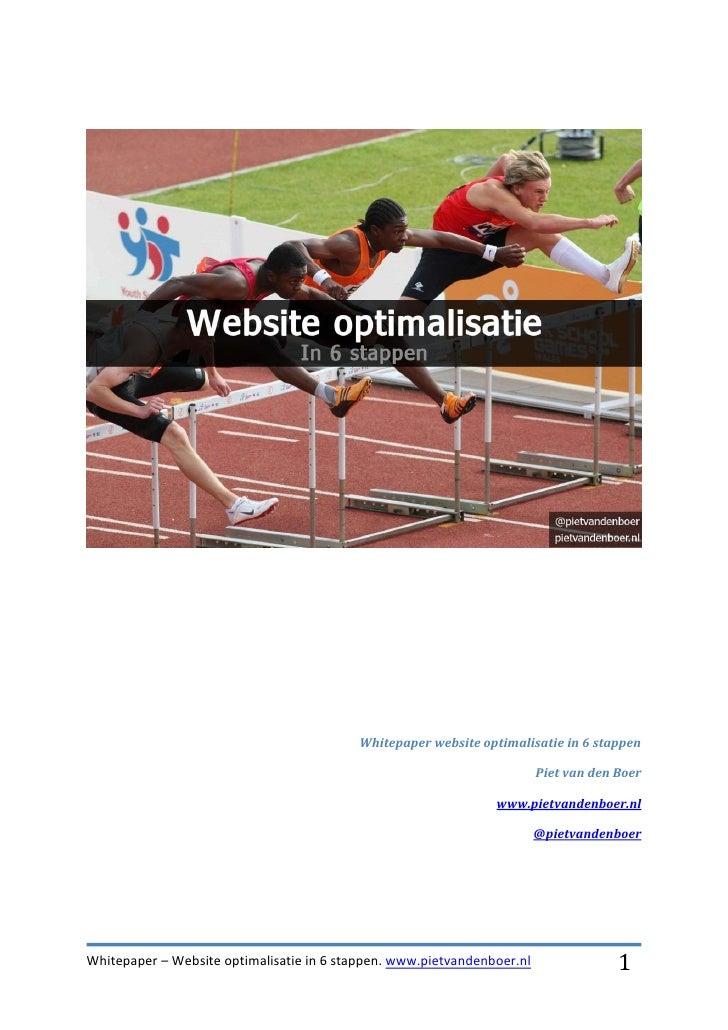 Whitepaper website optimalisatie in 6 stappen                                                                         Piet...