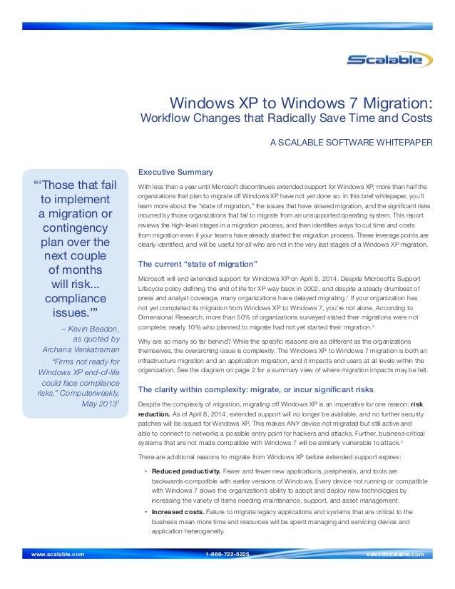 Windows XP to Windows 7 Migration Whitepaper