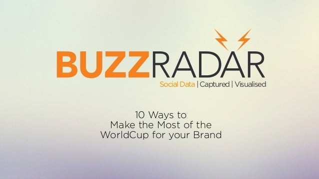 10 Ways to Make the Most of the WorldCup for your Brand SocialData|Captured|Visualised