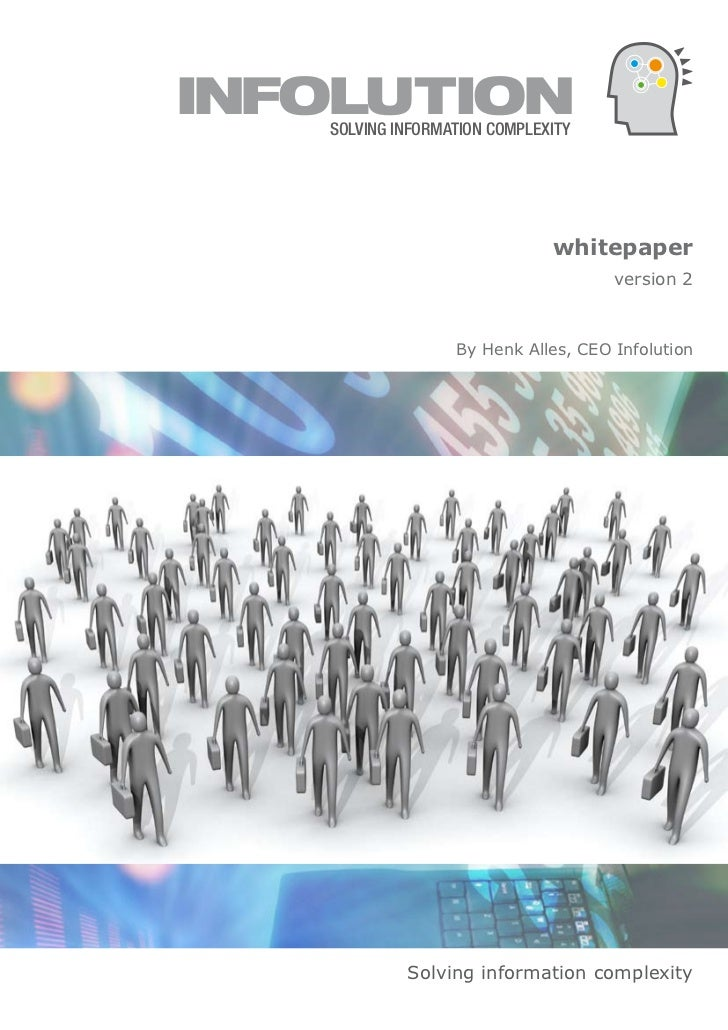 Solving Information Complexity - White paper by Hank Alles (Infolution