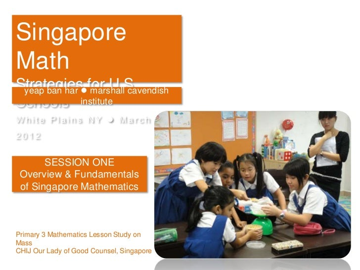 Singapore Math Strategies for U.S. Schools