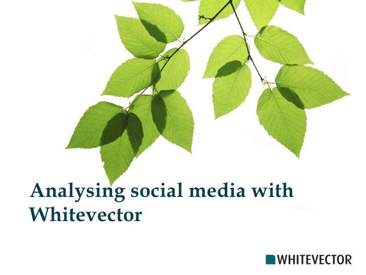 Analysing social media with Whitevector