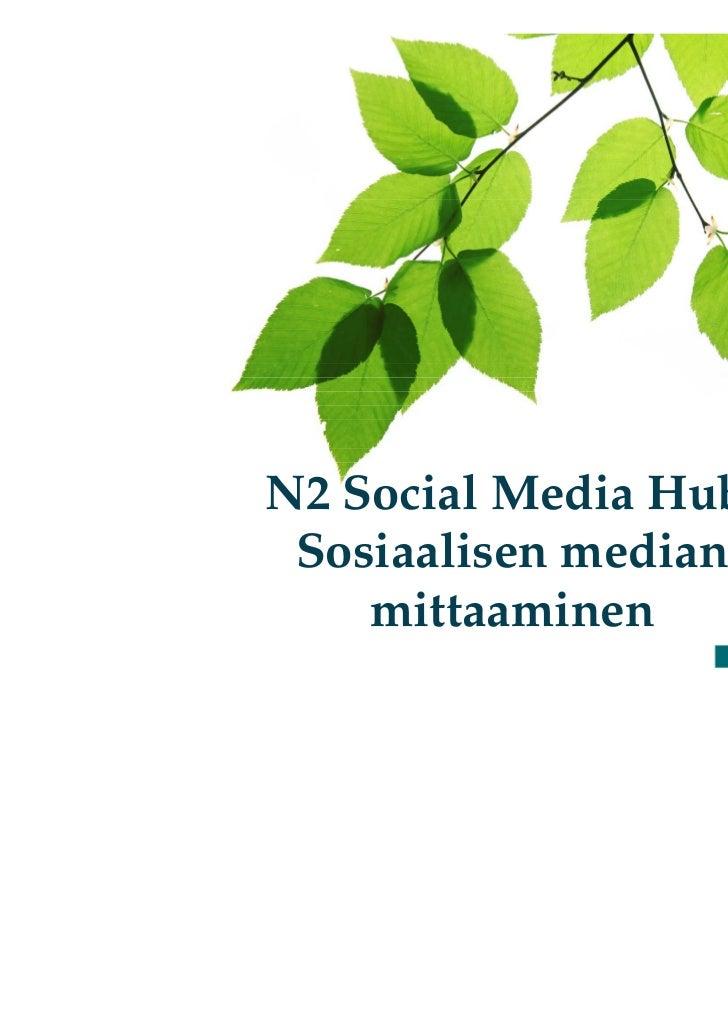 N2 Social Media Hub: Sosiaalisen median    mittaaminen