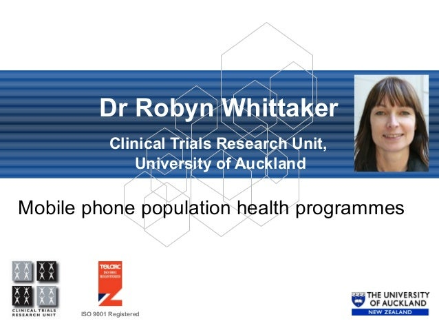 Mobile phone population health programmes - Dr. Robyn Whittaker