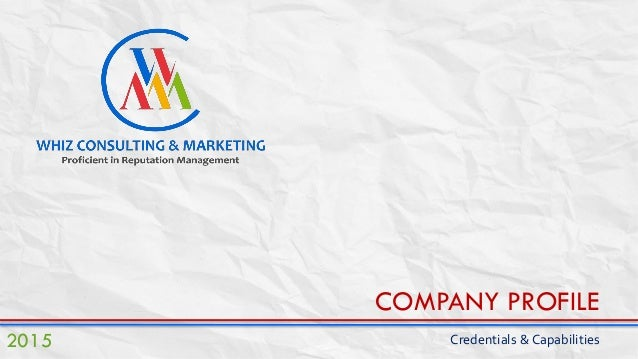 Whiz Consulting & Marketing Company Profile & Credential