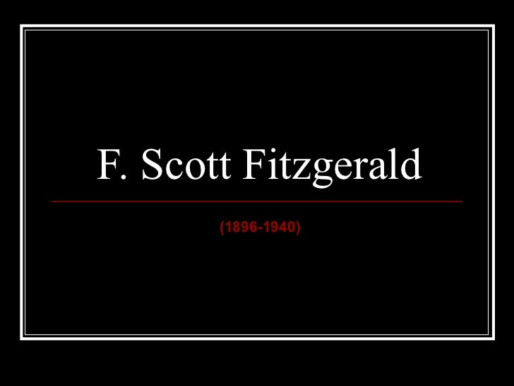 Intro to Fitzgerald