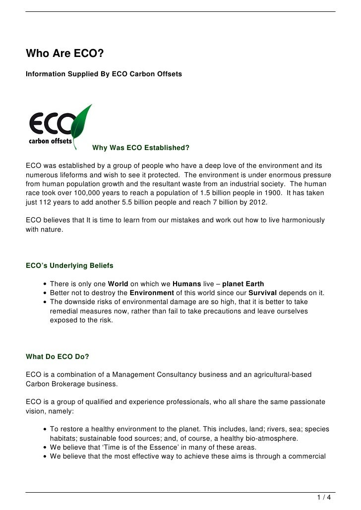 Who Are ECO?