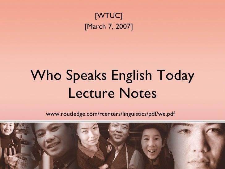 Who Speaks English