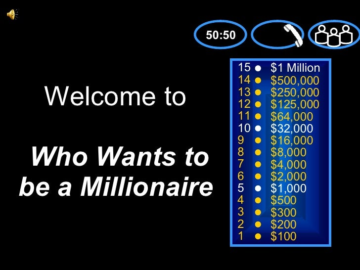 Who Wants To Be Millioinaire Vft