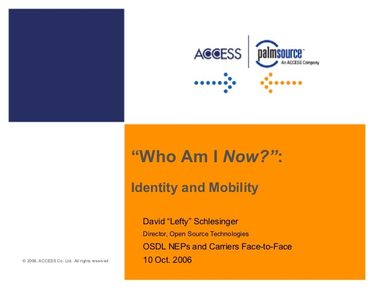 """Who Am I Now?"":                                               Identity and Mobility                                      ..."