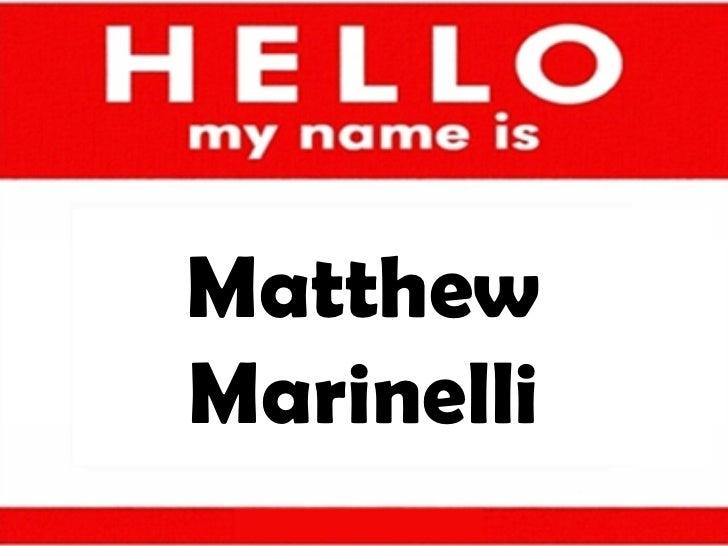 Matthew Marinelli