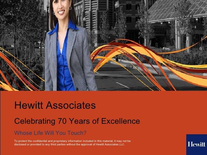 Hewitt Associates - A True Business and Cultural Overview