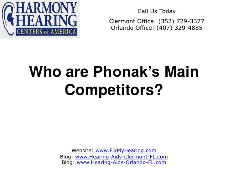 Who are Phonak's Main Competitors?