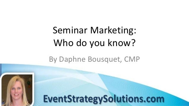 Seminar Marketing: It's All About Relationships
