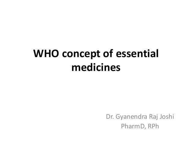 Who essential medicine concept