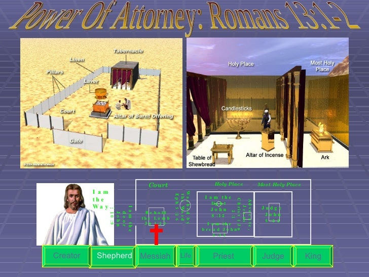 Holy Place Most Holy Place Court Washed by the Word Eph 5:26 Behold the Lamb Jn 1:29 Judge  John 5:22 Life Priest Judge Ki...
