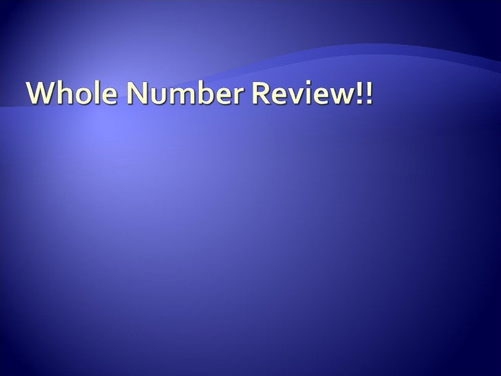 Whole Number Review!!