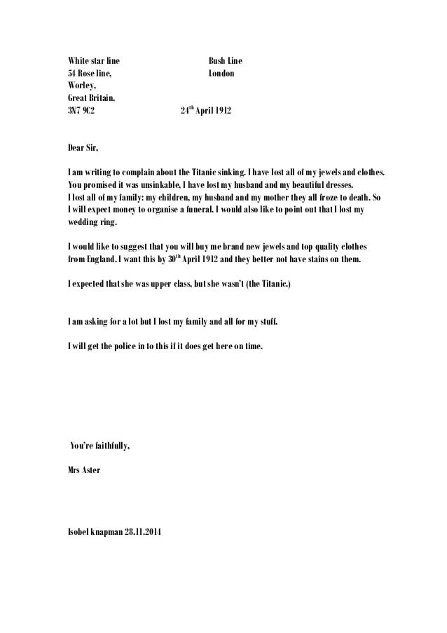 Complaint Letter Missing Luggage Sample Complaint Letter Airline Lost ...
