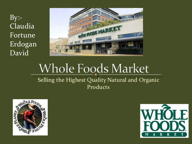 Whole foods market project
