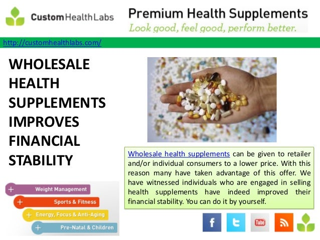 Wholesale health supplements improves financial stability