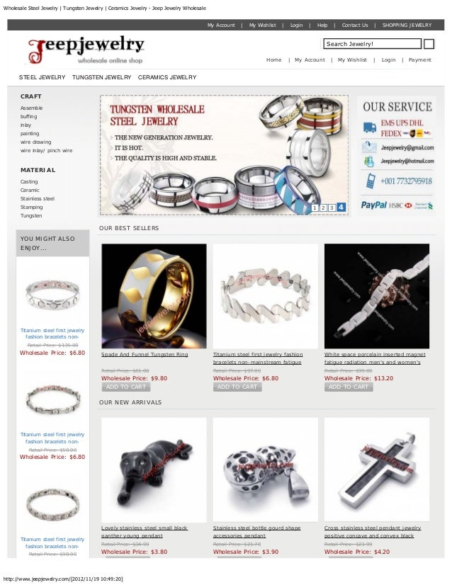 Wholesale Steel Jewelry | Tungsten Jewelry | Ceramics Jewelry - Jeep Jewelry Wholesale                                    ...