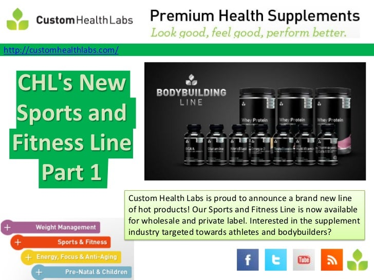 wholesale supplements - CHL's New Sports and Fitness Line Part 1