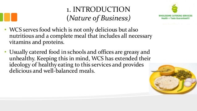 Business plan for healthy restaurant