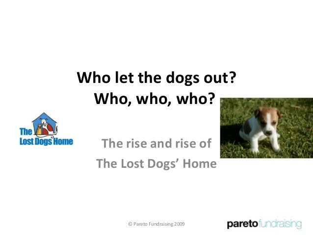 Who let the dogs out? Who, who, who? The rise and rise of The Lost Dogs' Home © Pareto Fundraising 2009