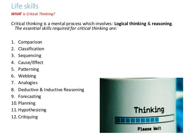 analytical skills vs. critical thinking