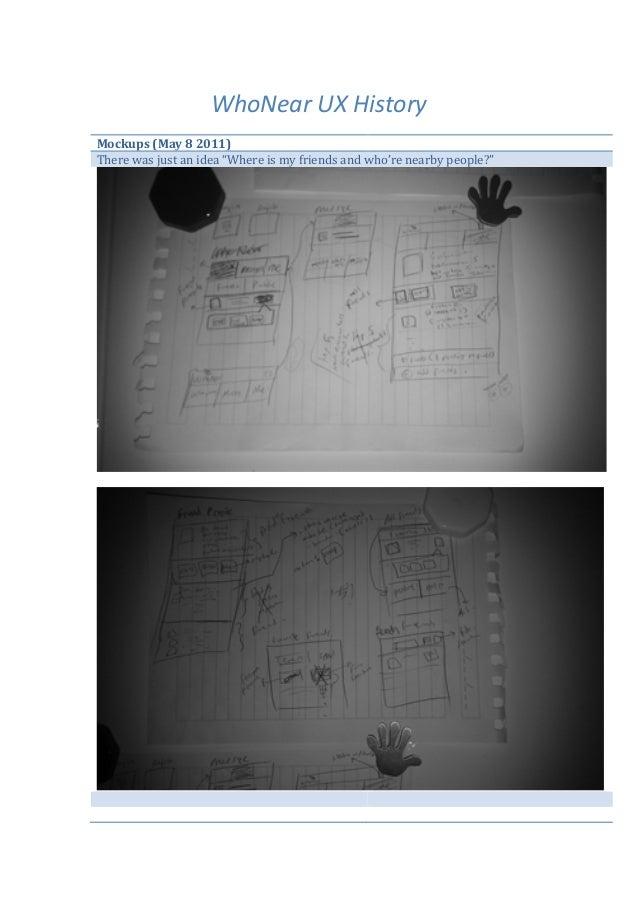 WhoNear UX History  Mockups (May 8 2011)                                                There was ju...