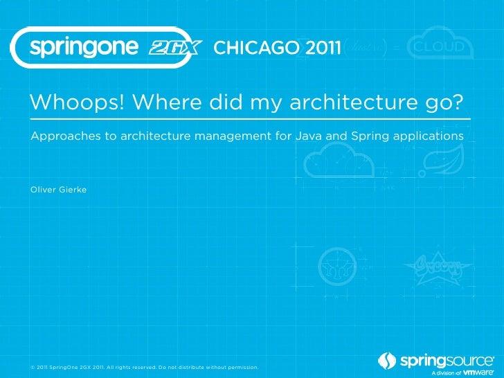 Whoops! Where did my architecture go?Approaches to architecture management for Java and Spring applicationsOliver Gierke© ...
