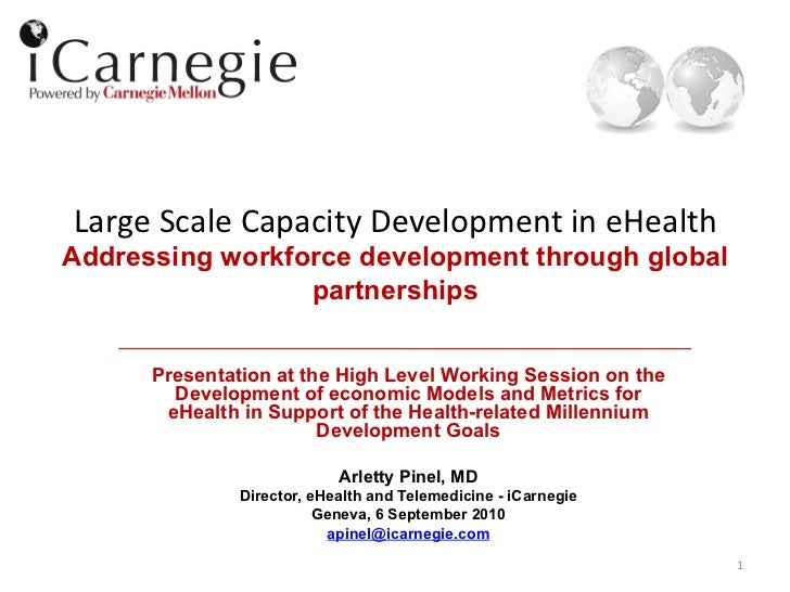 Large Scale Capacity Development in eHealth  Addressing workforce development through global                ...