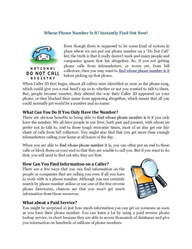 How to find whose phone number it is for free prevod