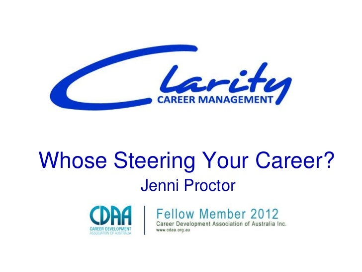 Whose Steering Your Career