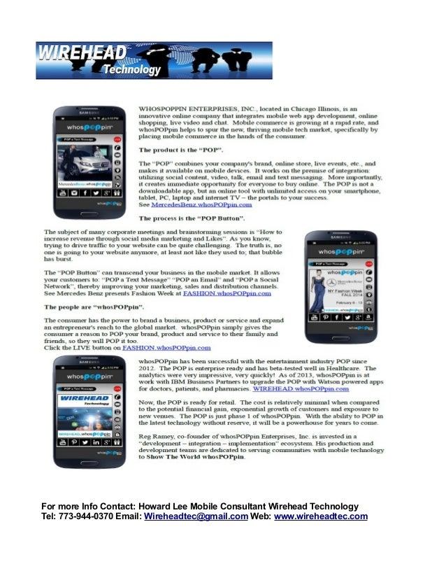 WhosPoppin Mobile Website