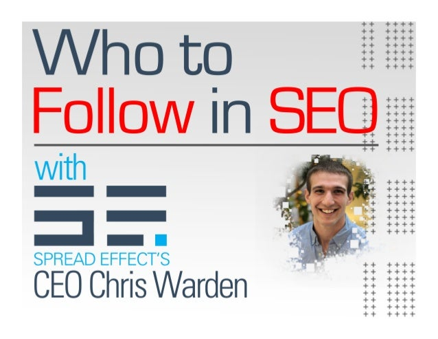 Who to Follow in SEO