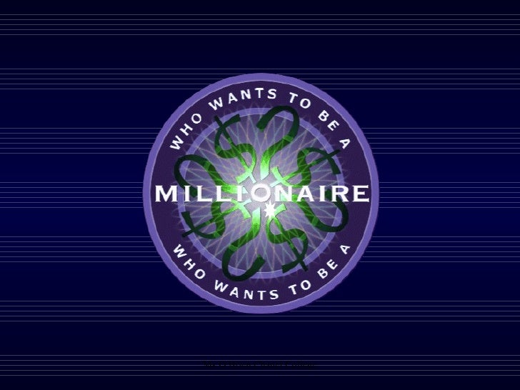 Who wants to be a millionaire income and expenditure