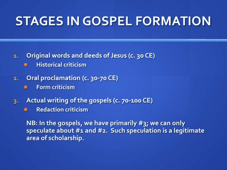 jesus in the gospels essay Historical background of the new testament as well as an essay by james still, jesus has been the trial of jesus: a study in the gospels and jewish.