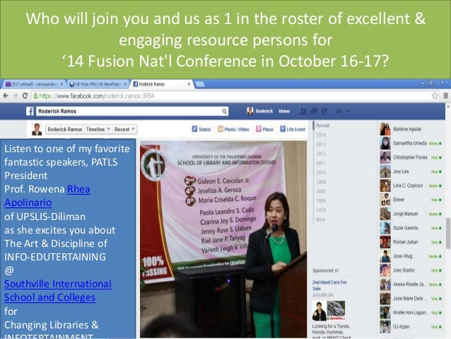 Who will join you? Fusion '14 National Conference on October 16-17: Changing Libraries & INFO-EDUTERTAINING