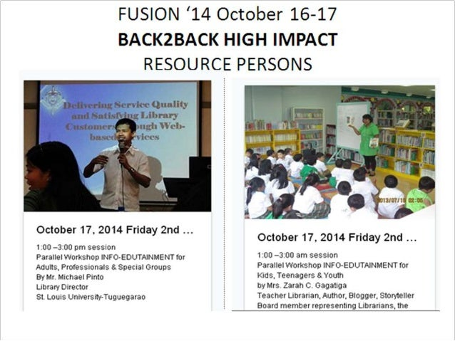 Who will join you and us as 2 in the roster of excellent & engaging resource persons for '14 Fusion Nat'l Conference in October 16-17?