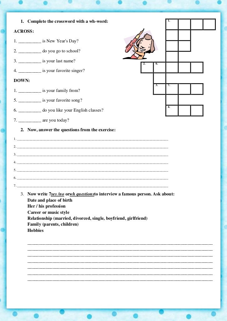 Exercises Verb To Be Yesno Questions - english worksheets ...