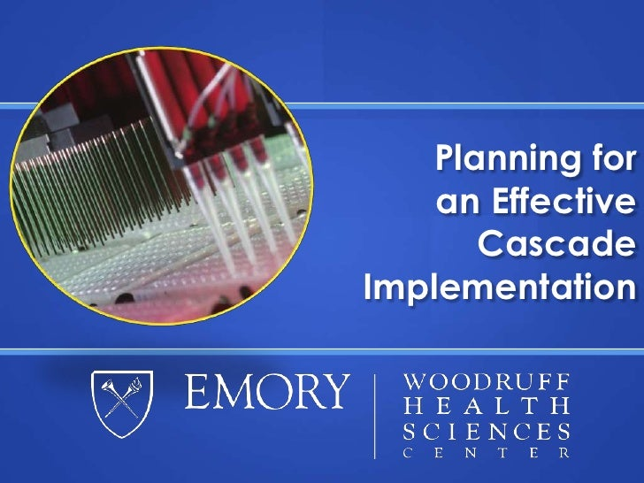 Planning for an Effective Cascade Implementation