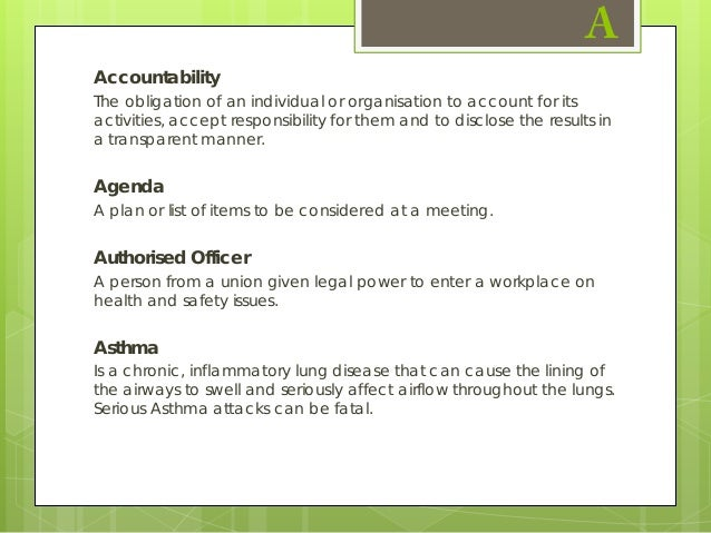 Glossary of Asthma Terms