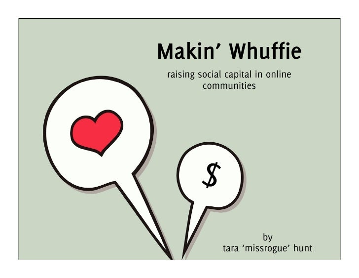 Makin' Whuffie  raising social capital in online           communities                              by                tara...