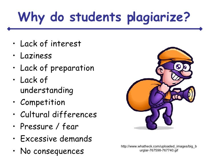 Why people plagiarize