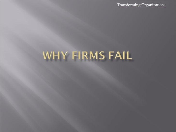 Why Firms Fail