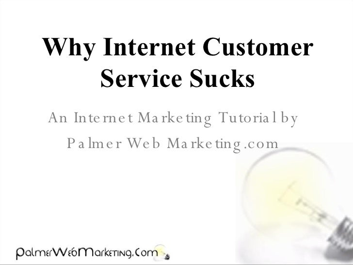 Why Internet Customer Service Sucks An Internet Marketing Tutorial by Palmer Web Marketing.com