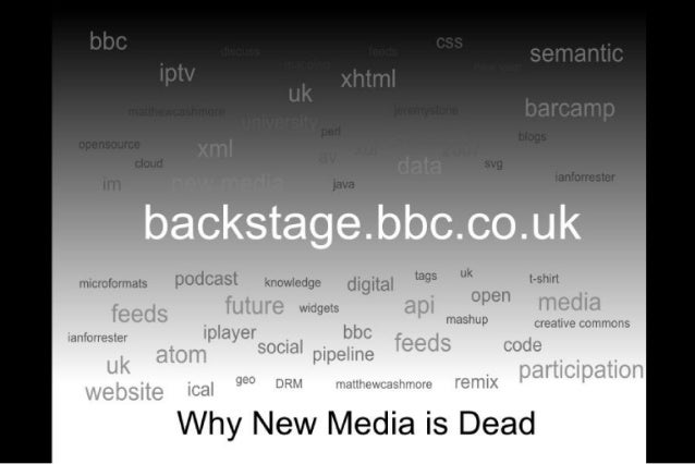 Why New Media is Dead - Newcastle