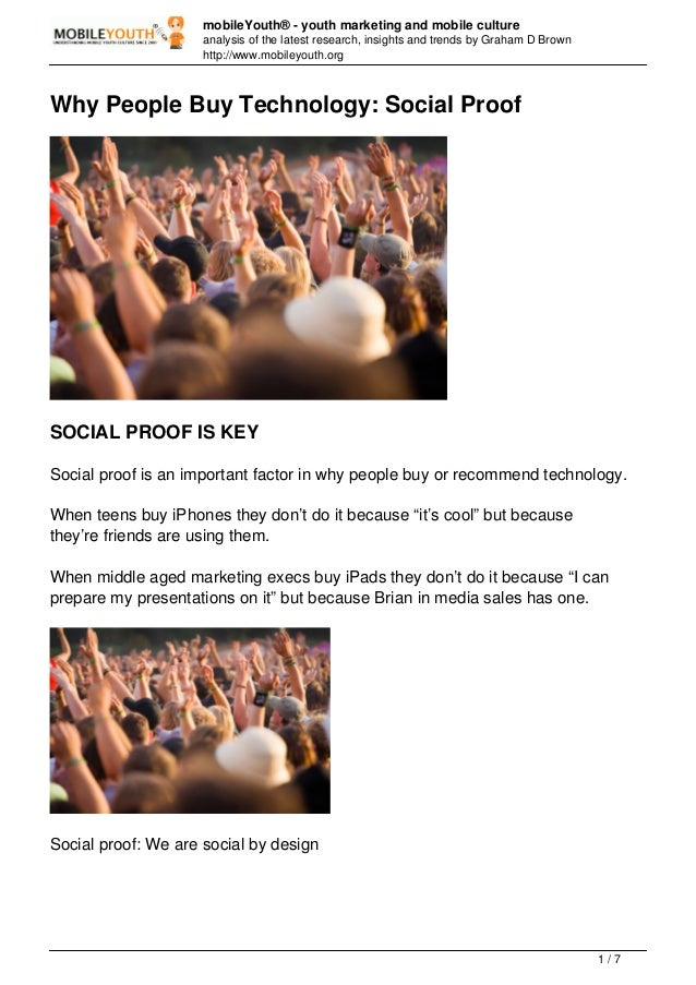 (Graham Brown mobileYouth) Why People Buy Technology: Social Proof
